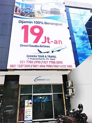 Kantor Zahara Tour Depok Jakarta.