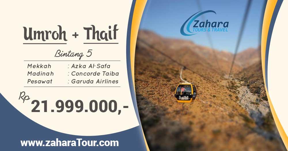 umroh pls thaif di bulan maret 2019 di zahara travel