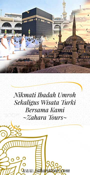 umrah + turki zahara tour side banner