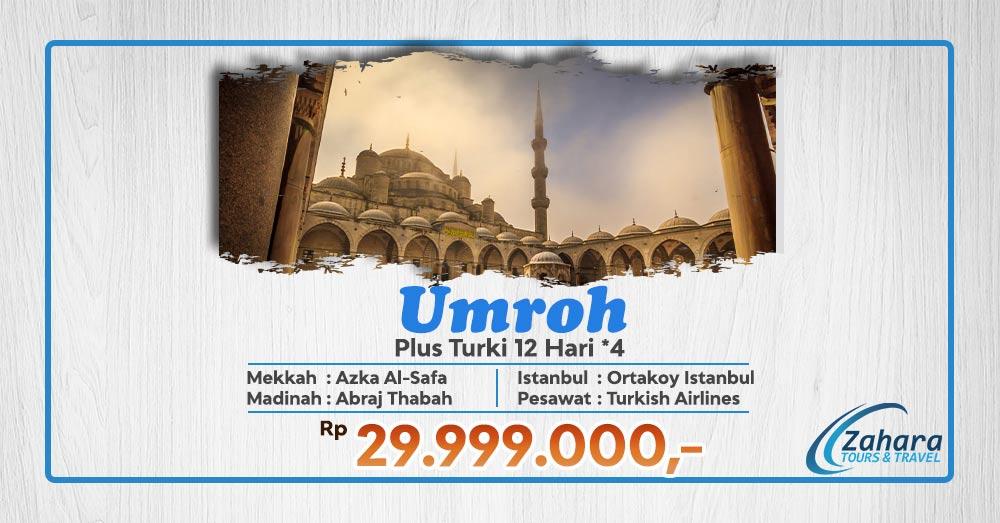 umroh plus turki bintang 4 29 jutaan zahara tour