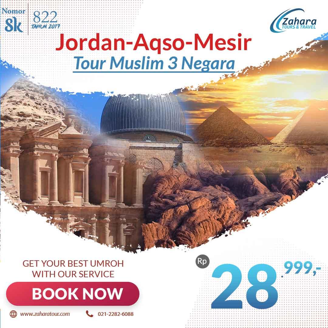Wisata Muslim Jordan Aqso Mesir 29jt
