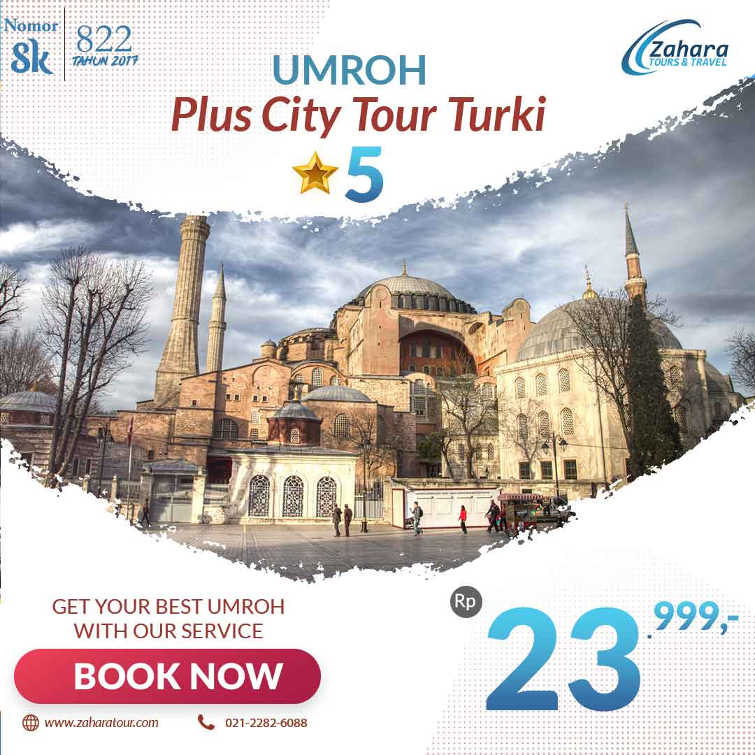 Umroh Murah Plus City Tour Turki 24jt