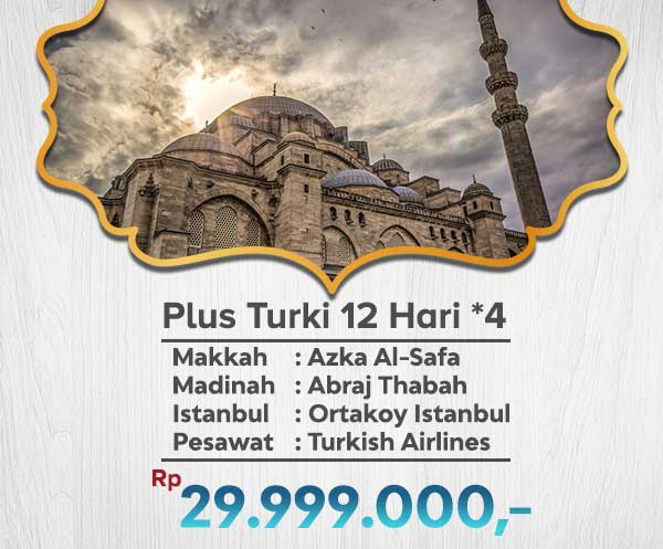 Umroh Murah Plus Turki 29jt